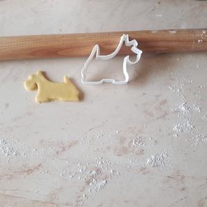 Kutya logo Skót terrier Süteménykiszúró Keksz Szaggató Forma, Karácsony, Karácsonyi dekoráció, Élelmiszer előállítás, Gyurma, Dobd fel a közelgő Ünnepeket/Szülinapokat 3d nyomtatott süti szaggatókkal\n\nElengedhetetlen süti szag..., Meska
