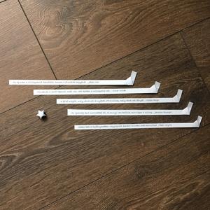 """Idézettel \""""töltött\"""" origami szerencsecsillagok  5 db/csomag, Dekoráció, Otthon & lakás, Lakberendezés, Papírművészet, Önmagukban is kedves ajándékok lehetnek ezek a csillagocskák, de válogass bátran a színek között, va..., Meska"""