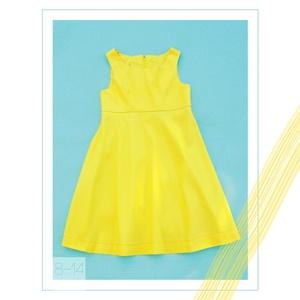Frézia_tavaszi lányka ruha 146-os (10-11 éves), Táska, Divat & Szépség, Ruha, divat, Gyerekruha, Kamasz (10-14 év), Varrás, Egyedi tervezésű, sárga színekben pompázó selyemfényű ruhánk tökéletes választás 10-11 éves lánynak ..., Meska