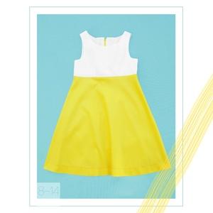 Nárcisz_lányka ruha 140-es (9-10 éves), Táska, Divat & Szépség, Ruha, divat, Gyerekruha, Kamasz (10-14 év), Varrás, Egyedi tervezésű, fehér-sárga színekben pompázó selyemfényű ruhánk tökéletes választás 9-10 éves lán..., Meska