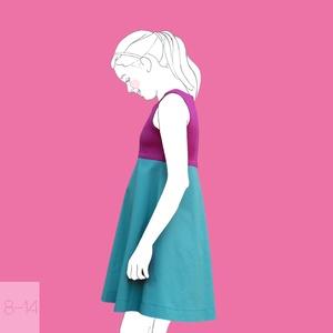 Fukszia_lány ruha 152-es (11-12 éves) (814GIRL) - Meska.hu