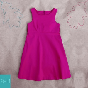 Orgona_lány ruha 146-os (10-11 éves), Ruha & Divat, Ruha, Babaruha & Gyerekruha, Egyedi tervezésű selyemfényű sztreccs vászon ruhánk divatos színével tökéletes választás különleges ..., Meska