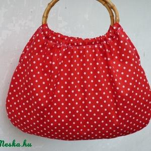 Piros-Pöttyös retró táska  (pannika) - Meska.hu