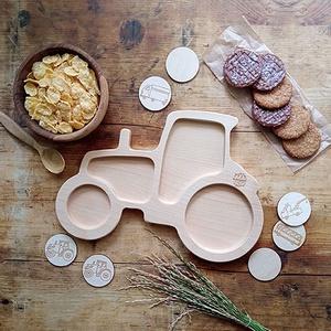 Traktor alakú fatányér - Meska.hu