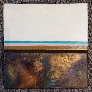 Főnix, Művészet, Festmény, Akril, Festészet, Méret: 30x30 cm\nFesték: Akril\nFelület: 3D vászon\nAnyagok: modellező paszta, akril festék, Meska
