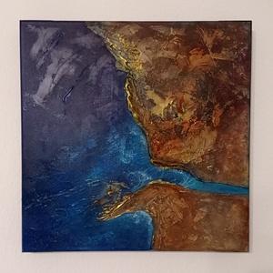 Raving Emptiness, Művészet, Festmény, Akril, Festészet, Méret: 50x50 cm\nFesték: Akril\nFelület: 3D feszített vászon\nAnyag: modellező paszta, akril festék..., Meska