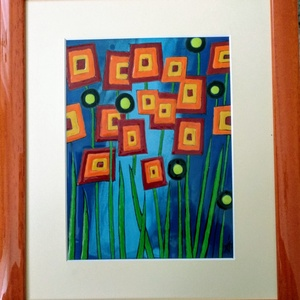Virágok. Tűzzománc kép, Otthon & lakás, Képzőművészet, Dekoráció, Kép, Lakberendezés, Falikép, Napi festmény, kép, Tűzzománc, 26 X 31 cm -es színes tűzzománc kép. A zománc mérete: 14,5 X 19,5 cm ., Meska