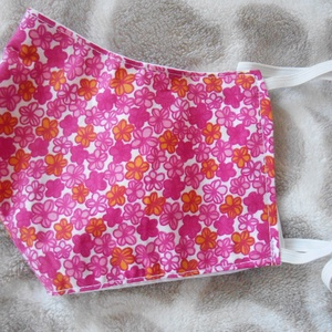 pink virág szájmaszk, NoWaste, Textilek, Táska, Divat & Szépség, Szépség(ápolás), Maszk, szájmaszk, Varrás, SZÍNES MINTÁS PAMUTVÁSZON 2 RÉTEGŰ 800.- / DB.\nKülső színes,mintás belső fehér 100% pamutvászon\n4 mé..., Meska