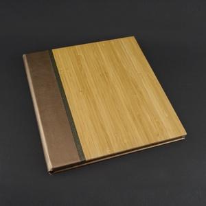 Gravírozható bambusz ALBUM fekete lapokkal, 23x25 cm-es, Otthon & Lakás, Papír írószer, Album & Fotóalbum, Könyvkötés, 23x25cm-es album/emlékkönyv, 8 oldalas fekete, vastag karton belsővel, gravírozott borítóval.\n\nA bam..., Meska