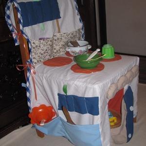 """,, Bogi Konyha\"""" Textil babakonyha, Szerepjáték, Játék & Gyerek, Varrás, A képen látható termék rendelésre készül, de egyedi igények szerint más színben is szívesen elkészít..., Meska"""