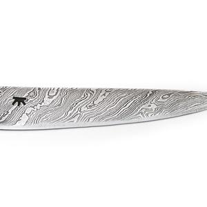 Damaszkolt markolatlapos kés csavart damaszk pengével, [K_03a] (adithiel) - Meska.hu