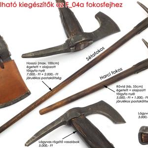 Kovácsolt acél szakállas székely fokos, [F_04a] (adithiel) - Meska.hu
