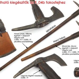 Kovácsolt acél szakállas székely fokos damaszkolt éllel, [F_04b] (adithiel) - Meska.hu
