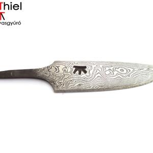 Damaszkolt markolattüskés kés rózsadamaszk pengével, [K_02d] (adithiel) - Meska.hu