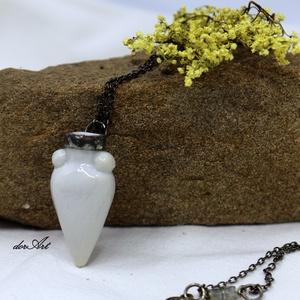 Agistri porcelán nyaklánc, Ékszer, Nyaklánc, Ékszerkészítés, A nyaklánc a görög Agistri szigetéről kapta a nevét, utalva ezzel különleges, egyedi formájára, mely..., Meska