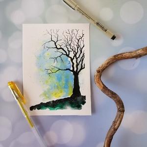 Varázserdő akvarell nyomat, Otthon & lakás, Képzőművészet, Napi festmény, kép, Illusztráció, Festészet, Úgy érzed, hiányzik valami varázslatos a lakásod faláról?\nA Varázserdő című képem tökéletes dísze le..., Meska