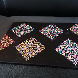 Modern mozaik technikával  kèszült akrilkèp , Művészet, Kollázs, Mozaik, Modern  mozaik technikával kèszült akrilkèp vászonra. \nMèrete:\n38*55cm\n, Meska