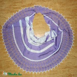 Puha lila-fehér csipkés kendő (adrimacs) - Meska.hu