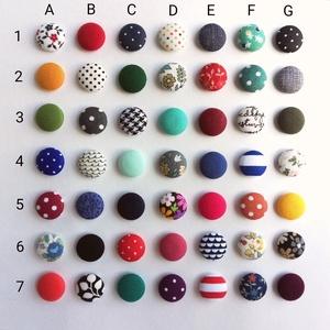 MINI vagy Micro textil fülbevaló csomag, variálható,  Állítsd össze a saját fülbevaló csomagod - 3 pár, Ékszer, Fülbevaló, Pötty fülbevaló,  Kiválogattam 2020 legkedveltebb TOP 50(-1) textiljét, melyekből összeállíthatod sajá Mini vagy Micr..., Meska