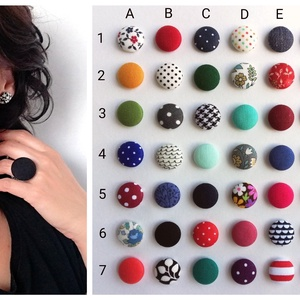 Összeállítható ékszerszett MINI textilfülbevaló csomag 3 pár + gyűrű, Állítsd össze a saját ékszerszetted (adris) - Meska.hu