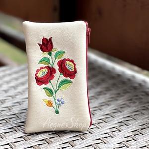 Piros zöld, Táska & Tok, Pénztárca & Más tok, Textilbőrből készült bármitartó. Természetesen használhatod akár kártyatartónak, pénztárcának...vagy..., Meska
