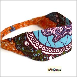 Afrikai mintájú színes textil női hajpánt, fejpánt, Táska, Divat & Szépség, Ruha, divat, Hajbavaló, Hajpánt, Varrás, Nagy rajongója vagyok az afrikai stílusú textíliáknak , pompázatos színük, jellegzetes  mintájuk sem..., Meska
