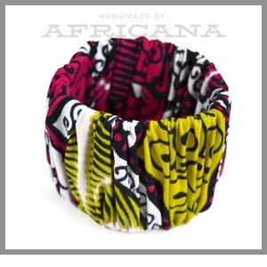 Afrikai mintájú színes textil karkötő, Ékszer, Karkötő, Varrás, Ékszerkészítés, Nagy rajongója vagyok az afrikai stílusú textíliáknak , pompázatos színük, jellegzetes  mintájuk sem..., Meska