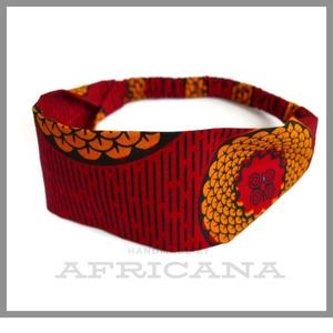 Afrikai mintájú , piros/sárga színű textil női hajpánt, fejpánt, autentikus afrikai textiliából, Táska, Divat & Szépség, Ruha, divat, Hajbavaló, Hajpánt, Varrás, Nagy rajongója vagyok az afrikai stílusú textíliáknak , pompázatos színük, jellegzetes  mintájuk sem..., Meska