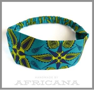 Afrikai mintájú , zöld/sárga színű textil női hajpánt, fejpánt, autentikus afrikai textiliából, Táska, Divat & Szépség, Ruha, divat, Hajbavaló, Hajpánt, Varrás, Nagy rajongója vagyok az afrikai stílusú textíliáknak , pompázatos színük, jellegzetes  mintájuk sem..., Meska