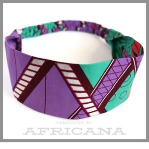 Afrikai mintájú , lila/zöld/ fehér  színű textil női hajpánt, fejpánt, autentikus afrikai textiliából, Táska, Divat & Szépség, Ruha, divat, Hajbavaló, Hajpánt, Varrás, Nagy rajongója vagyok az afrikai stílusú textíliáknak , pompázatos színük, jellegzetes  mintájuk sem..., Meska