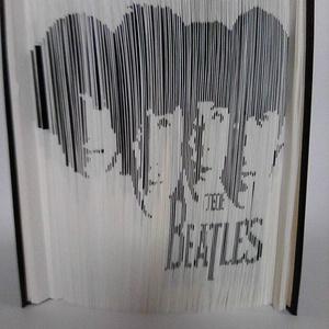 """The Beatles, Művészet, Más művészeti ág, A """"The Beatles"""" egyedi készítésű könyvszobor. Kiváló ajándék rajongóknak névnapra, születésnapra, va..., Meska"""