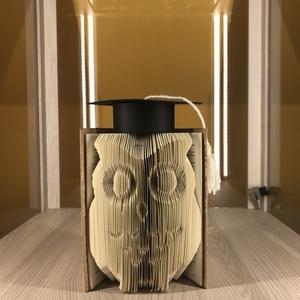 """Bölcs Bagoly, Művészet, Más művészeti ág, A""""Bölcs Bagoly"""" egyedi tervezésű könyvszobor. Kiváló és időtálló ajándék ballagásra, diplomaosztóra,..., Meska"""
