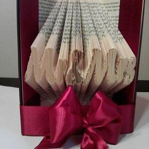 """MrMrs, Művészet, Más művészeti ág, A""""Mr&Mrs egyedi tervezésű, hajtással készült könyvszobor. Kiváló és időtálló ajándék eljegyzésre, es..., Meska"""
