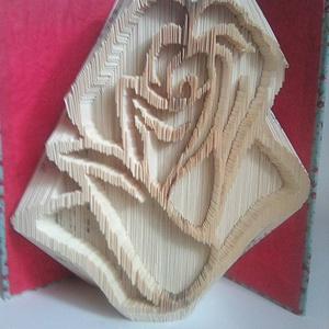 """Rózsafej, Művészet, Más művészeti ág, A""""Rózsafej"""" egyedi tervezésű könyvszobor. Kiváló és időtálló ajándék Nőnapra, Névnapra, Születésnapr..., Meska"""