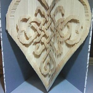 """Kelta szív, Művészet, Más művészeti ág, A""""Kelta szív"""" egyedi tervezésű könyvszobor, mely minden alkalomra kiváló és időtálló ajándék.   Te M..., Meska"""