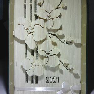"""Orchidea, Művészet, Más művészeti ág, Az""""Orchidea"""" egyedi tervezésű könyvszobor. Kiváló és időtálló ajándék Névnapra, Születésnapra, Évfor..., Meska"""