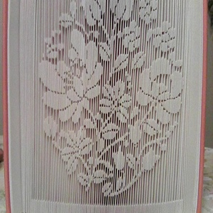 """Virágcsipke, Művészet, Más művészeti ág, A""""Virágcsipke"""" egyedi tervezésű könyvszobor, amely kiváló és időtálló ajándék bármilyen alkalomról i..., Meska"""