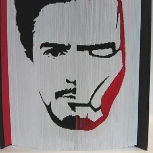 """Tony Stark/Vasember, Művészet, Más művészeti ág, A""""Tony Stark/Vasember egyedi tervezésű könyvszobor.Kiváló és időtálló ajándék Marvel,-Bosszúállók ra..., Meska"""