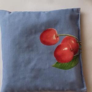 Cseresznyemagpárna/nagyobb, Otthon & Lakás, Lakberendezés, A színes  pamutvászon külső alatt egy másik,ugyancsak pamutvászon zsákocskában kb.30 dkg saját kertb..., Meska