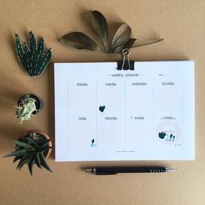Conillo heti tervező, Naptár, képeslap, album, Otthon & lakás, Naptár, Jegyzetfüzet, napló, Fotó, grafika, rajz, illusztráció, Heti tervező (weekly planner) általam készített, ágiszerintes grafikákkal. A tervező 52 db 10,5x21 c..., Meska