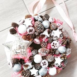 JEGES CSILLAG kék- ünnepi-termés kopogtató, ajtódísz KÉSZTERMÉK, Otthon & lakás, Dekoráció, Ünnepi dekoráció, Karácsonyi, adventi apróságok, Karácsonyi dekoráció, Virágkötés, Mindenmás, Az igazi tél hófehér. A white koszorúk azoknak készülnek, akik szeretik a hóval borított táj hangula..., Meska
