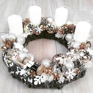 KARÁCSONYI MESE diótörő téli- ünnepi-karácsonyi kopogtató, ajtódísz, Otthon & lakás, Dekoráció, Ünnepi dekoráció, Karácsony, Karácsonyi dekoráció, Mindenmás, Virágkötés, A skandináv design kedvelőinek, akik szeretik a fehér, a szürke, a barna és a piros színeket, a kis ..., Meska