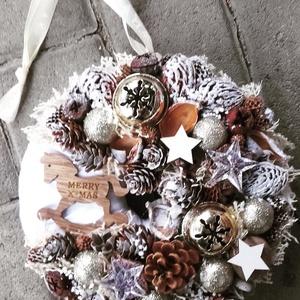 HINTALÓ ünnepi-karácsonyi termés kopogtató, ajtódísz KÉSZTERMÉK, Otthon & Lakás, Karácsony & Mikulás, Adventi koszorú, Virágkötés, Mindenmás, Az igazi tél hófehér. A white koszorúk azoknak készülnek, akik szeretik a hóval borított táj hangula..., Meska