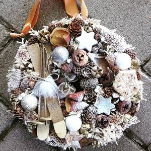 SÍLÉCRE FEL ünnepi-karácsonyi termés kopogtató, ajtódísz KÉSZTERMÉK, Otthon & Lakás, Karácsony & Mikulás, Karácsonyi dekoráció, Virágkötés, Mindenmás, Az igazi tél hófehér. A white koszorúk azoknak készülnek, akik szeretik a hóval borított táj hangula..., Meska