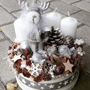 RÈNIS ünnepi-karácsonyi termés BOX, ASZTALDÍSZ, KOSZORÚ KÉSZTERMÉK, Karácsony & Mikulás, Karácsonyi dekoráció, Az igazi tél hófehér. A white koszorúk azoknak készülnek, akik szeretik a hóval borított táj hangula..., Meska