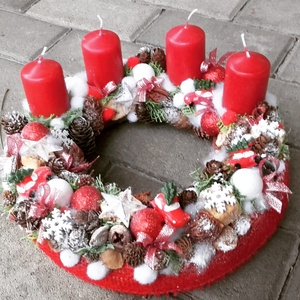 KARÁCSONYI MESE ünnepi-karácsonyi-adventi koszorú,.dísz, Karácsony & Mikulás, Karácsonyi dekoráció, Virágkötés, Mindenmás, Meska