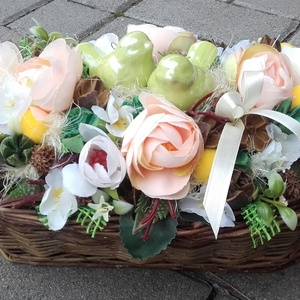 MADÁRPÁR virágos-színes asztaldísz, dísz, dekoráció NÉVNAPRA ÉS SZÜLINAPRA - Meska.hu