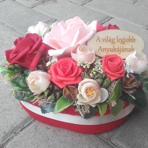 ÖRÖK VIRÁGDOBOZ virágbox, virágos asztaldísz NÉVNAPRA ÉS SZÜLINAPRA, Otthon & Lakás, Dekoráció, Asztaldísz, Virágkötés, Tavaszi asztaldísz.\nDíszítheti lakásodat, de adhatod ajándékba is, anyák napjára, szülinapra vagy há..., Meska