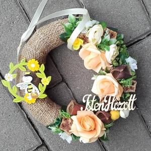MÉHECSKE tavaszi-virágos-színes asztaldísz, dísz, dekoráció NÉVNAPRA ÉS SZÜLINAPRA, Otthon & Lakás, Dekoráció, Asztaldísz, Virágkötés, Meska