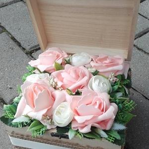 Virágos tavaszi-habrózsás asztaldísz, dísz, BALLAGÁSRA, SZÜLINAP, NÈVNAP, Otthon & Lakás, Dekoráció, Asztaldísz, Virágkötés, Tavaszi asztaldìsz, dekoráció, dísz.\nA közelgő ballagásra, névnapra vagy szülinapra is tökêletes ajá..., Meska
